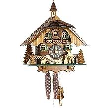Orologio a cucù originale nero foreste Cuculo Orologio meccanico in vero legno 1giorno unità nuovo Certificato VDS Eble–casa della Foresta Nera di 30cm 22310