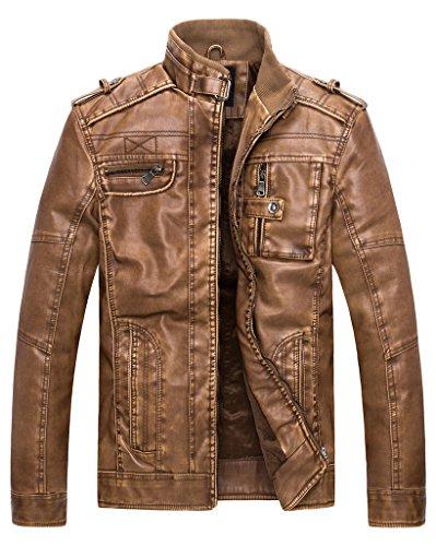 wantdo-mens-pu-leather-vintage-stand-collar-jacket-yellow-medium