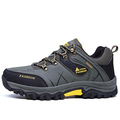 XIGUAFR Chaussures de Sport Outdoor Pour Homme Automne Hiver Chaussure D'Escalade de Randonné Waterproof