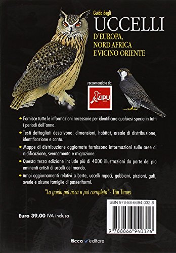 Guida agli uccelli d'Europa, Nord Africa e Vicino Oriente