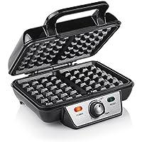Tristar WF-2195 Cialdiera per Waffle, Acciaio Inossidabile, Nero
