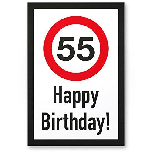 Grazie! targhetta in plastica per 55° compleanno, idea regalo di compleanno per cinquantacinque anni, decorazione di compleanno, decorazione per feste, accessori per feste, biglietto di compleanno.