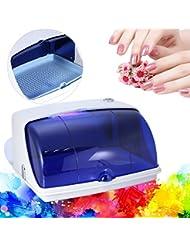 crisnails Stérilisateur UV professionnel germicide/bactéricide Pour Coiffure manucure deux plateaux Coiffure Salon de beauté Crisnails®