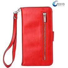 Custodia portafoglio BORA Samsung Galaxy S7 Edge con custodia posteriore smontabile, slot per carte, tasca di contanti, visione facile, stile Folio, protegge lo schermo dal graffio.