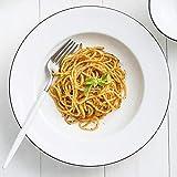 Piatti Piatto Piatto Occidentale Piatto Semplice Zuppa Stoviglie In Ceramica Piatto Per Spaghetti Piatto Fondo Piatto Europeo Per La Casa Piatto-Linea Nera Piatto Minimalista Cappello Di Paglia