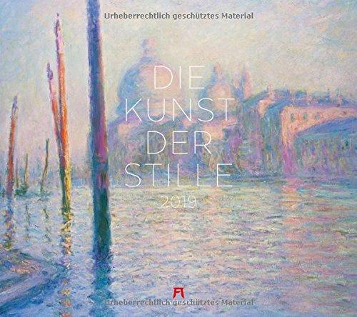 Die Kunst der Stille 2019, Wandkalender im Querformat (54x48 cm) - Kunstkalender (Impressionismus) mit Monatskalendarium