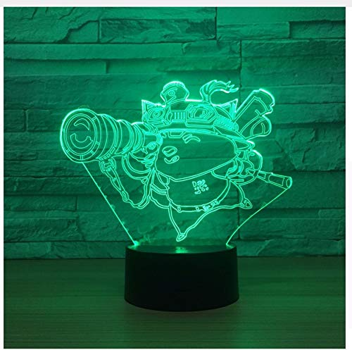 Look Telescopio 3D Robot De Luz Nocturna 3D Lámpara