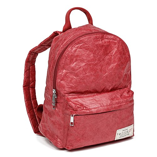 Fenner-Fashion Paper Bag Backpack Lissabon Olivgrün Rot