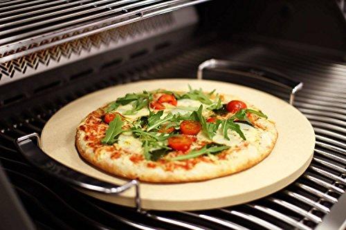 SE Premium Pizzastein 33 cm rund mit Gestell - Steinofen Pizza Flammkuchen