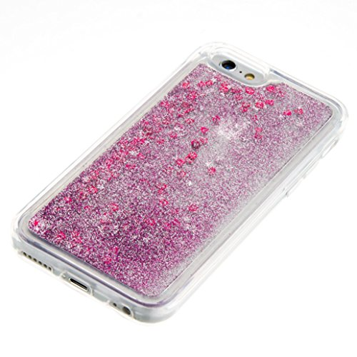 For iPhone 6 4.7[CUTE SPARKLING]Novelty Creative Liquid Glitter Design Liquid Quicksand Bling Adorable Flowing Floating Moving Shine Glitter Case -PURPLE EIFFEL PURPLE