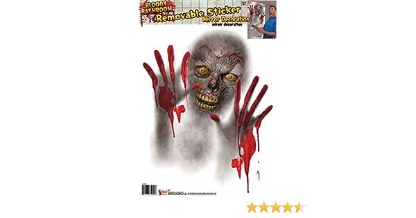 Fearstrees Spiegel Zombie Halloween Deko Horror Folie f/ür Spiegel und Fenster Splatter Schocker Blutige Leiche Abziebild