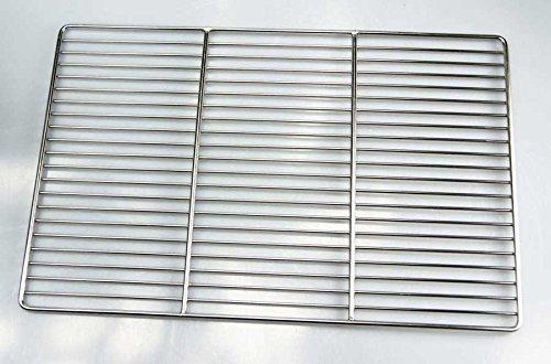 Edelstahl Grillrost 67 x 40 cm Qualitätsedelstahl V2A, stabile & schwere Ausführung Grill Rost