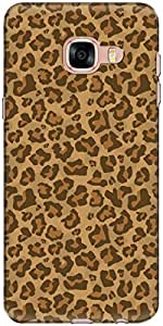 The Racoon Grip printed designer hard back mobile phone case cover for Samsung Galaxy C5. (Leopard Pr)