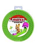 Mayka 34655 - Klebeband für Lego Bausteine, 2 m selbstklebendes Band mit 4 Noppen, leuchtgrünes Bausteinband, flexibles Noppenband zum Bauen mit Legosteinen für Kinder ab 3 Jahre, wiederverwendbar