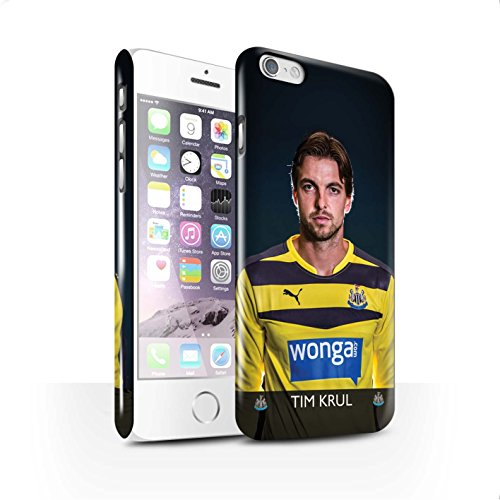 Officiel Newcastle United FC Coque / Clipser Brillant Etui pour Apple iPhone 6 / Pack 25pcs Design / NUFC Joueur Football 15/16 Collection Krul