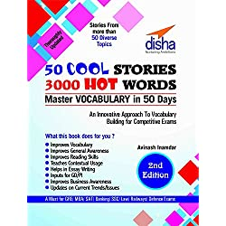 50 COOL STORIES 3000 HOT WORDS (Master VOCABULARY in 50 days) for GRE/ MBA/ SAT/ Banking/ SSC/ Defence Exams 2nd Edition