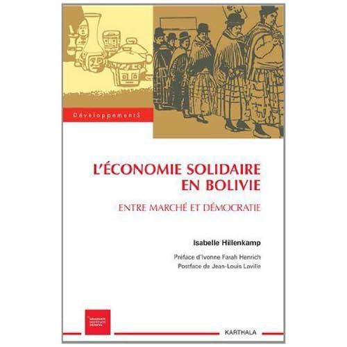 L'économie solidaire en Bolivie. Entre marché et démocratie