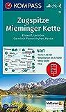 KOMPASS Wanderkarte Zugspitze, Mieminger Kette, Ehrwald, Lermoos, Garmisch-Partenkirchen, Reutte: 4in1 Wanderkarte 1:50000 mit Aktiv Guide und ... 1:50 000 (KOMPASS-Wanderkarten, Band 25) -