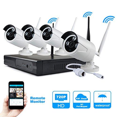 JOOAN TC-734NVR-4K 720P Telecamere IP 4CH NVR di sicurezza senza fili di sorveglianza CCTV Sistemi Plug and Play Indoor / Outdoor