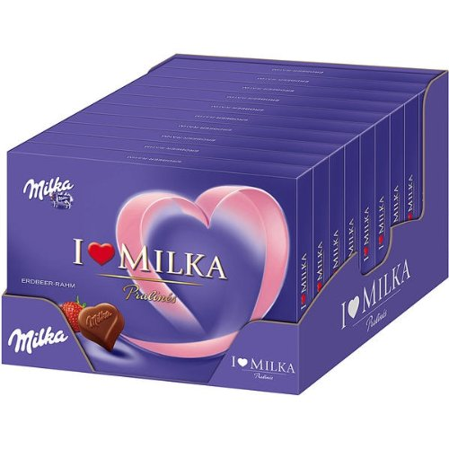 Milka I Love Milka Pralines Herzen Erdbeer Rahm Menge:110g