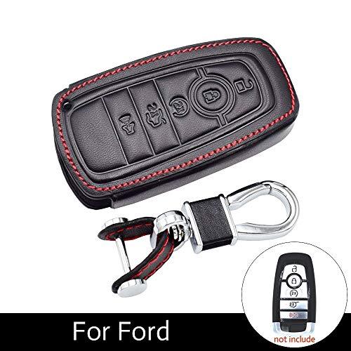 XXNHLLHKA Leder autoschlüssel Fall smart keyless Remote fob Abdeckung Tasche, für Ford 2017-2018 f-150 f-250 f-350 f-450 f-550 Auto zubehör (Ford F450 Zubehör)