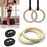 Best Gymnastic Rings - Pair of Wooden Gymnastic Olympic Gym Adjustable Rings Review