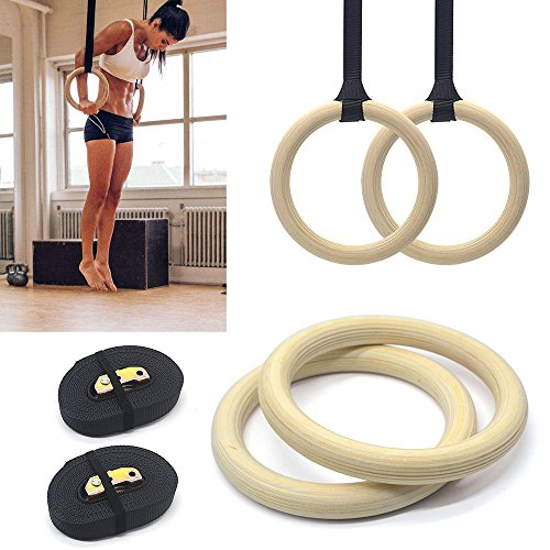Pair of Wooden Gymnastic Olympic Gym Adjustable...