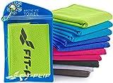 Fit-Flip Cooling Towel 100x30cm, Mikrofaser Sporthandtuch kühlend, Kühltuch, Cooling Towel, Mikrofaser Handtuch  Farbe: grün, Größe: 100x30cm