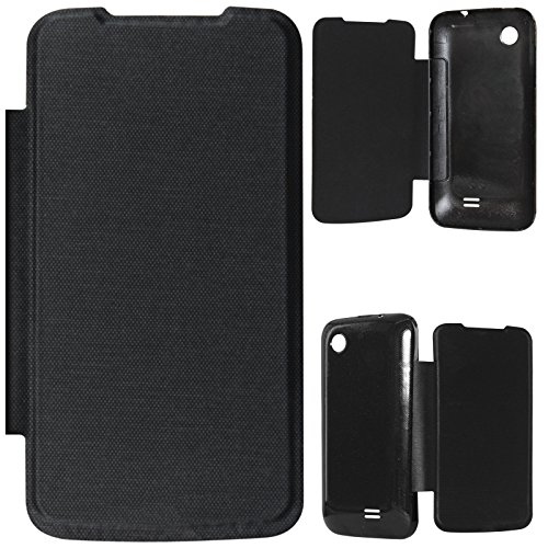 DMG PU Leather Flip Book Cover Case for Lenovo A369i - Black  available at amazon for Rs.199
