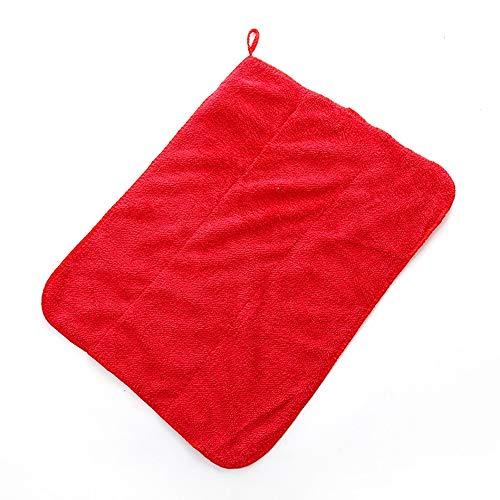 2 Lumpen Mikrofaser Reinigungstuch Küchengeschirrtuch Saugfähiges Lappen Reinigungstuch Staubtuch Shop Lappen Baumwolle Geeignet für Garage Auto Körper und Bar,red