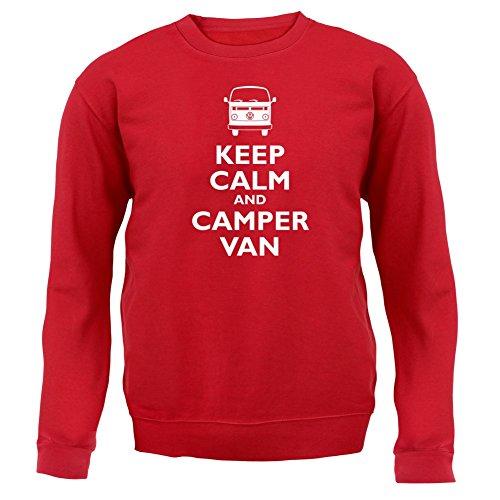 Keep Calm and Camper Van - Kinder Pullover/Sweatshirt - Rot - M (5-6 - Rote Kleinkinder Vans