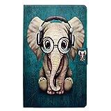 Lspcase Funda para Samsung Galaxy Tab A6 10.1, Clásicos 3D Diseño Flip Case Piel Wallet Funda Piel Carcasa Cáscara Funda para Samsung Galaxy Tab A6 10.1 Pulgada SM-T580 SM-T585 Elefante Bebé
