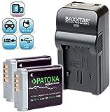 Baxxtar RAZER 600 Ladegerät 5 in 1 + 2x Patona Premium Akku für -- Canon NB-13L -- zu Canon PowerShot SX620 SX720 SX730 G5 X G7 X G9 X und G7 X Mark II G9 X Mark II (70% mehr Leistung 100% mehr Flexibilität) mit USB-Ausgang zum gleichzeitigen Laden eines Drittgerätes