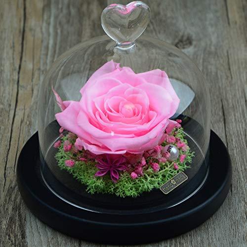 Lxj Ewige Blume Valentine ' Tag unsterblich Blume Rose Geschenkbox DIY Glasabdeckung getrocknet fertig Freundin Geburtstagsgeschenk