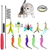 Best Cat Toys Interactives - Cat Dangler Toy Training Télescopique interactif rétractable Naturelles Review