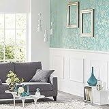Tapete Blau Tiffany mit Blumenmuster Shabby Vintage Gold glänzend. Shine She 68636020