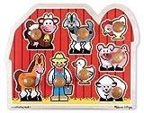 Melissa & Doug - Amigos de la granja, rompecabezas con clavijas grandes (13391)