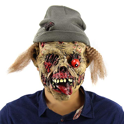 Finerplan Halloween Zombie Tomb Keeper Gruselmaske Latex Vollgesicht Nausea Horror Evil Spirits Masken Geisterhaus Cosplay ()
