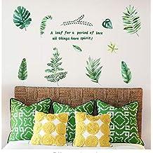 Decoración De La Casa Banana Leaf Art Vinilo Mural Home Room Decor Inicio Decoración De La