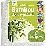 Babysom - Matelas Bébé Bambou - Epaisseur 14cm, Déhoussable, Naturellement antibactérien