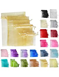 TtS 50pcs 20x30cm Organza Gift Bags Wedding Party Favour Jewellery Packing Pouches - Gold