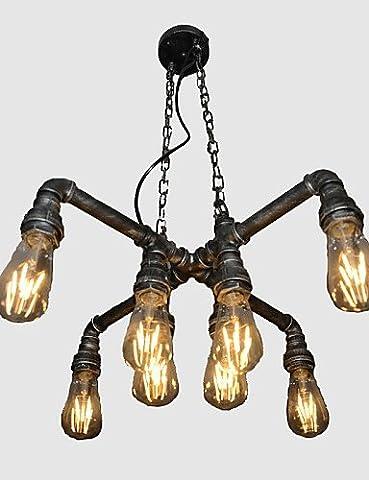 SWENT Simple moderne/retro/LED lights pendentif Lampe Loft Bar Café est joué le rôle de personnalité créatrice vent industrielle Restauration de voies anciennes Droplight Conduit,220-240V