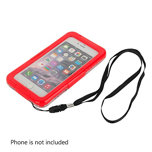 Julyfox IPX8 Professional Waterproof Case For iPhone 7 Plus(5.5 inch) Scratchproof Touch Compatible(Blue) Red