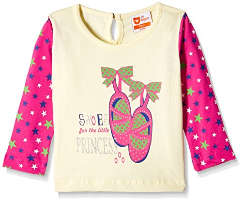 612 League Baby Girls' T-Shirt (ILW16I78017_Off White_18-24 months)