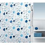 Spirella 10.16753 Vinyl-Duschvorhang Bollato Blue, 180 x 200 cm