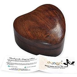 Big Sale Offer & Diwali Gift- Antique Handmade Wooden Urn Engraving Handcarved Heart Shaped Jewellery Box for Women-Men Jewel   Home Decor Accents   Decorative Urns   Storage & Organiser