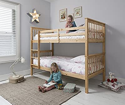 Anders Bunk Bed in Natural Splits into 2 Singles