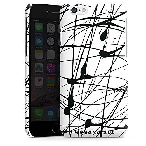 Apple iPhone 5s Housse Étui Protection Coque Dessin Couleur Noir Cas Premium brillant