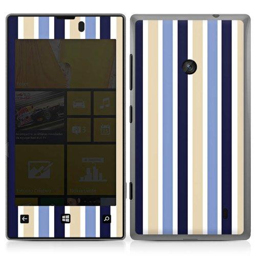 Preisvergleich Produktbild Nokia Lumia 520 Case Skin Sticker aus Vinyl-Folie Aufkleber Streifen Muster Maritim