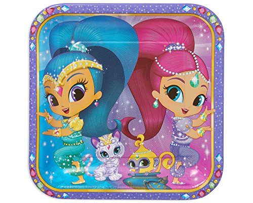 Amscan International 551653 23 cm Shimmer & Shine Papier Teller